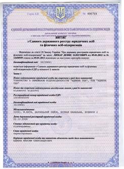 Витяг з Єдиного державного реєстру України